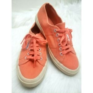 Superga Sneakers Canvas Lace Up Size 8.5